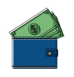 Wallet money banknote pay bank concept vector