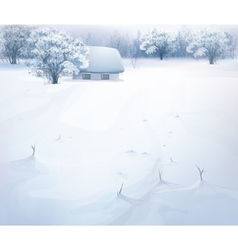 winter snow house vector image