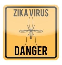 Zika virus warning square sign vector