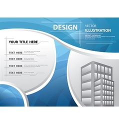 abstract blue template vector image