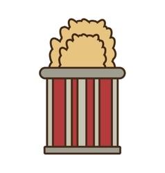 cartoon bucket pop corn cinema vector image vector image
