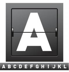 mechanical scoreboard alphabet vector image