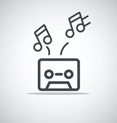 Modern media web icon Audio cassette vector image vector image