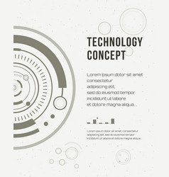 technology report flyer design template brochure vector image vector image