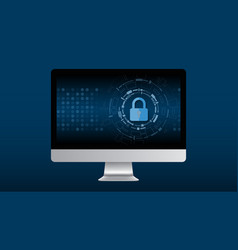 cyber technology security netwok protection vector image vector image