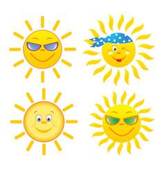 suns set vector image