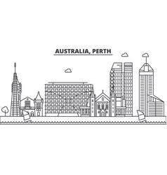 australia perth architecture line skyline vector image