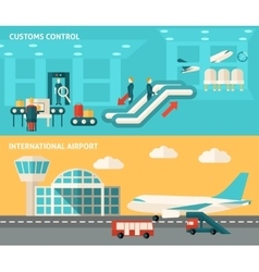 Banner Airport Set vector image vector image