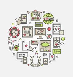 online casino circular vector image vector image