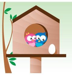 birds in love vector image vector image
