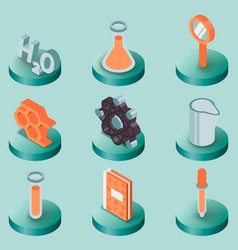 chemical color isometric icons vector image vector image