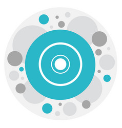 of mp3 symbol on disc icon vector image