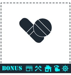 Pills icon flat vector image vector image