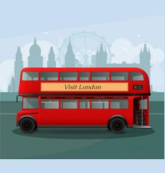 Realistic london double decker bus vector