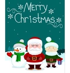 Santa and friends4 vector image