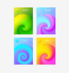 3d fluid colorful liquid gradient background set vector image