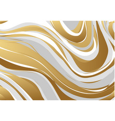 Abstract marbling texture gold gray white vector