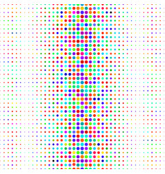 abstract pattern with dots vector image