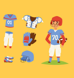 american football player action sport athlete vector image