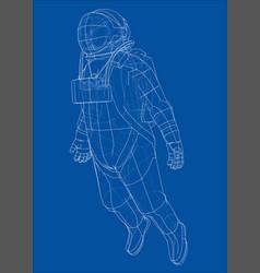 Astronaut concept rendering of 3d vector