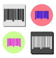 barcode flat icon vector image