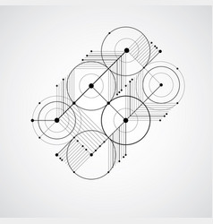 Bauhaus retro wallpaper art monochrome vector