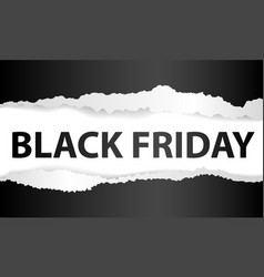 Black friday ripped baner vector
