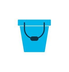 bucket icon colored symbol premium quality vector image
