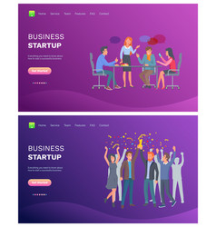 business startup people on meeting discussion vector image