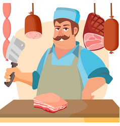 Butcher character classic professional vector