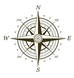 Classic wind rose isolated on white background vector image
