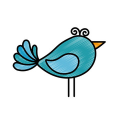 Cute birdie cartoon vector