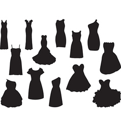 Dresses vector image