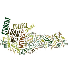 Erase that debt from college text background word vector