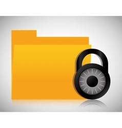 File archive padlock data center web hosting vector