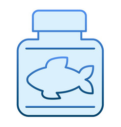 Fish oil flat icon fish fat blue icons in trendy vector