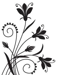 flower back vector image