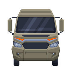 front view minibus for passenger or cargo vector image