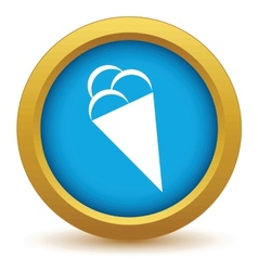 Gold ice cream icon vector image
