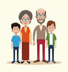 Grandparents with grandchild image vector