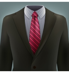 Grey business suit with a tie vector