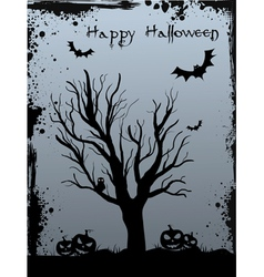 Halloween tree background vector
