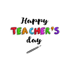 Happy teachers day banner 2 vector