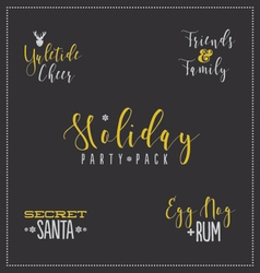 Holiday Party Design Package vector image