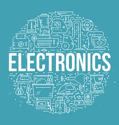 Home electronics vector