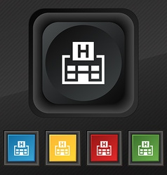 Hotkey icon symbol Set of five colorful stylish vector