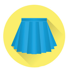 icon pleated skirt vector image
