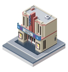 isometric cinema building vector image