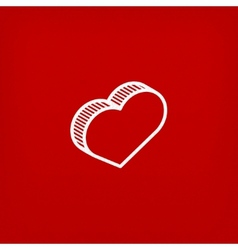 isometric icon with heart sign vector image