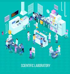 Laboratory isometric composition vector